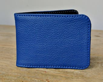 Royal Blue Leather Card Holder - Travel card case - Oyster Card Holder - Credit Card Case - Card Wallet
