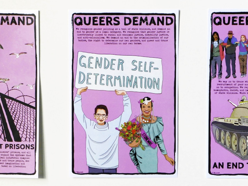Poster: Queers Demand Gender Self-Determination image 0
