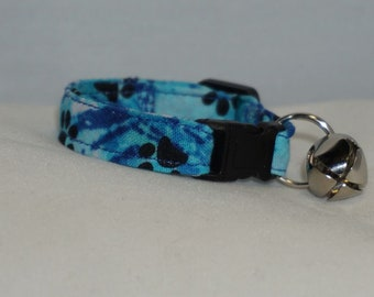 Cat or Ferret Collar with Name and 2 stamps Custom lengths /& Colors. DC6 PERSONALIZE LEATHER Dog