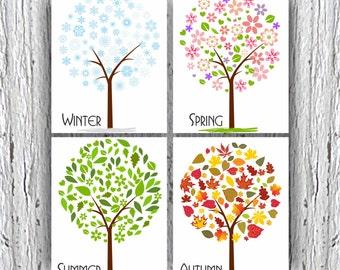 Four Seasons Art Etsy