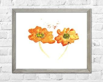 Flowers Art, Home Art  Print, Flowers Watercolor, Nursery Wall Art, Home Decor, Home Wall Art