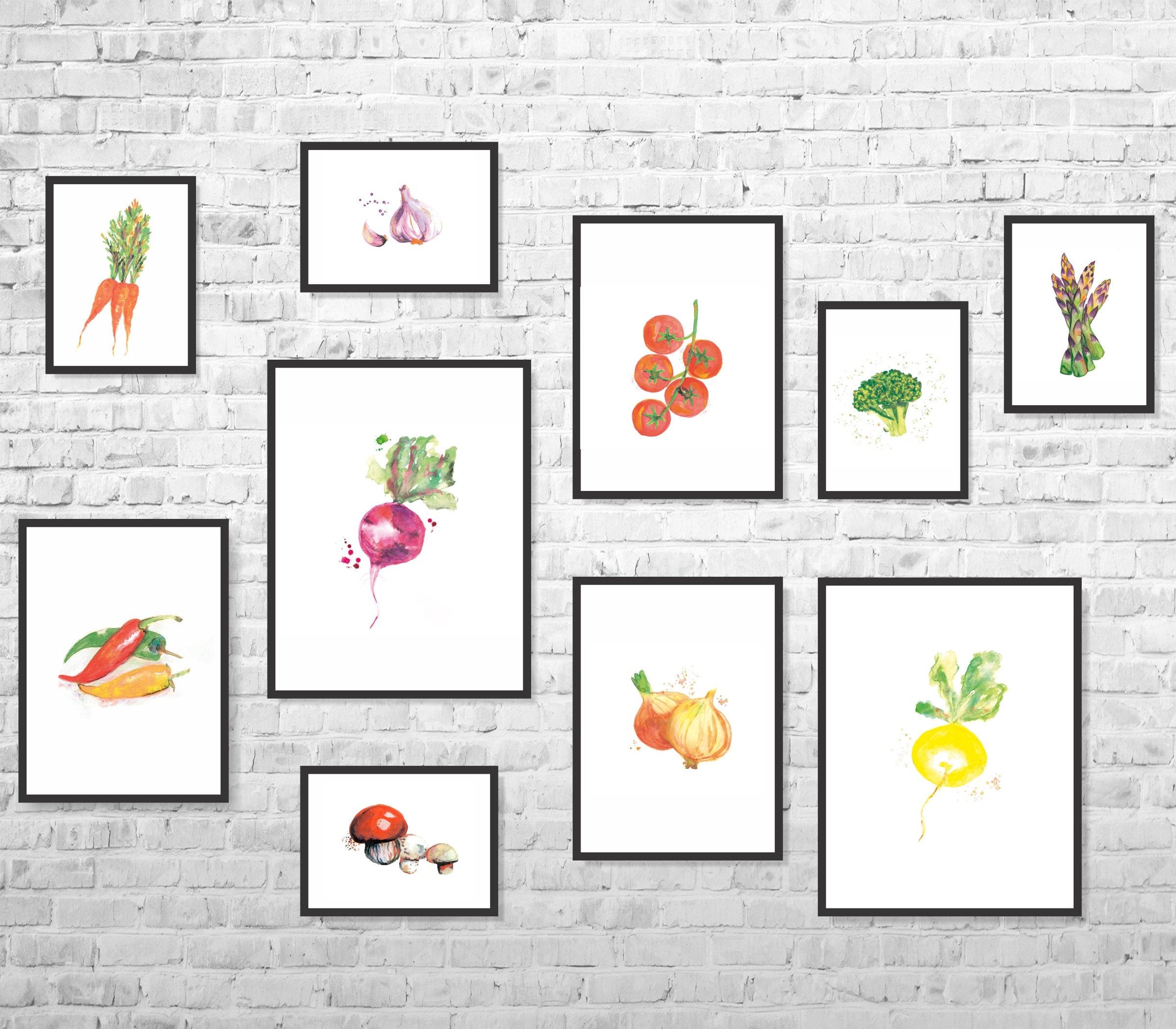 Kitchen Decor Vegetables: Vegetables Decor-Kitchen Decor-Vegetables Print-Vegetables