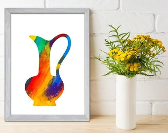 Kitchen decor - Kitchen wall art - Kitchen print - Kitchen art  - Kitchen Wall Decor  -Jug Art Print