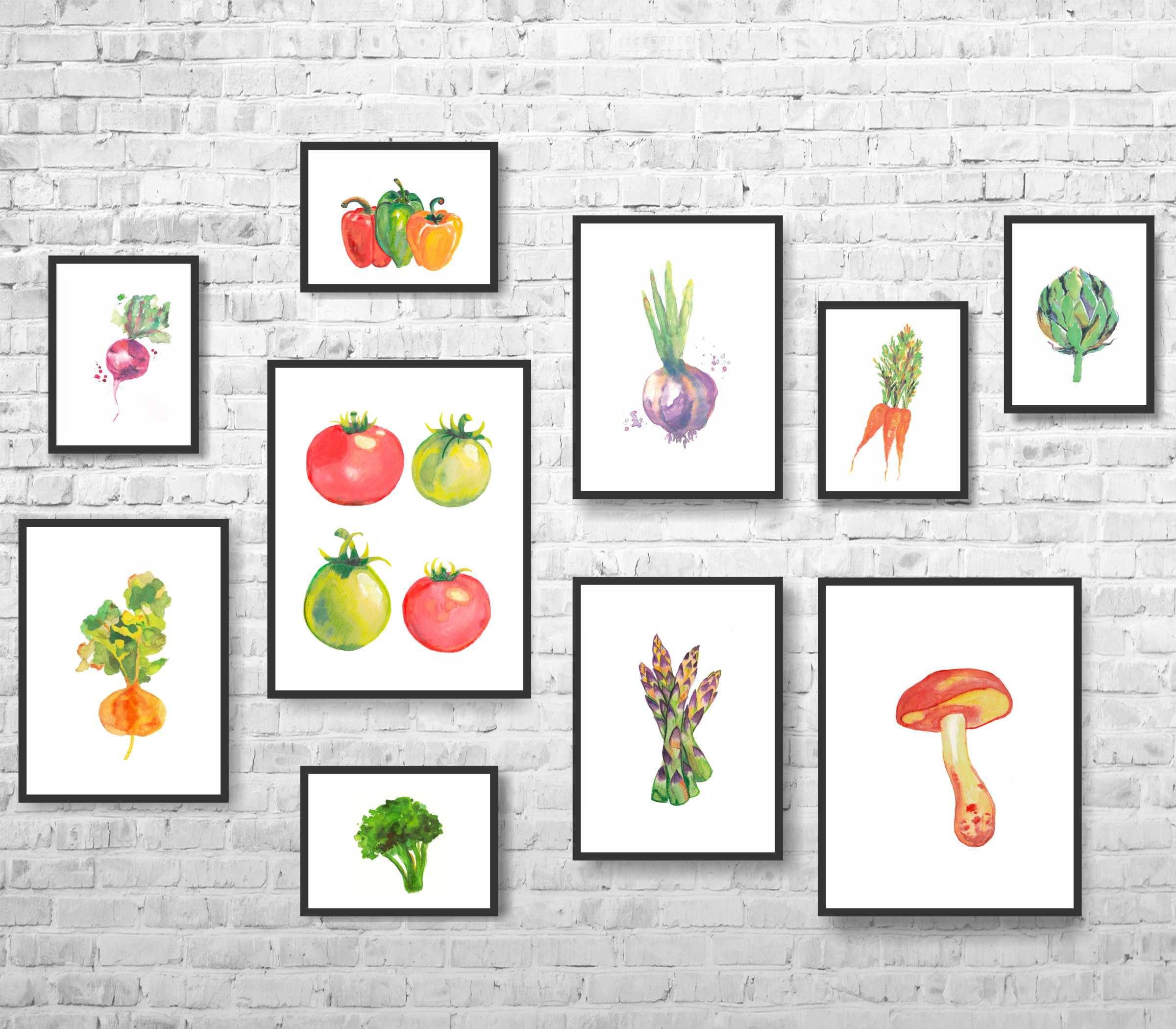 Kitchen Decor Vegetables: Kitchen Decor-Vegetables Decor-Vegetables Print-Vegetables