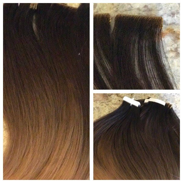 Tx Tresses European Remy Double Drawn Highlighted Color Melt Tape In