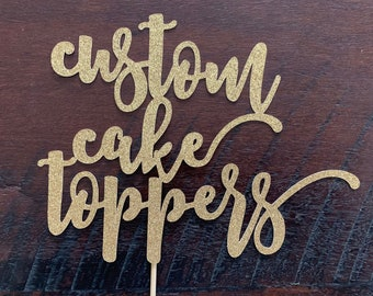Personalised Custom Cake Topper | Personalised Name Cake Topper | Any Name & Age | FREE DELIVERY + 5 FREE Gifts Tags
