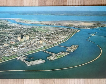 Vtg Postcard Aerial View of Corpus Christi, Texas - Plastichrome by Colourpicture - Frank Whaley Postcards