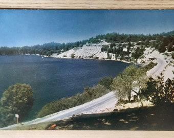 Vtg Scenic Drive Skirting Lake Arrowhead Postcard - Kodachrome Reproduction by Mike Roberts Studio, Berkeley CA