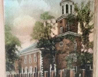 Vtg Christ Church, Alexandria, VA, Built in 1767 - George Washington Was a Vestryman Postcard - Hand Colored