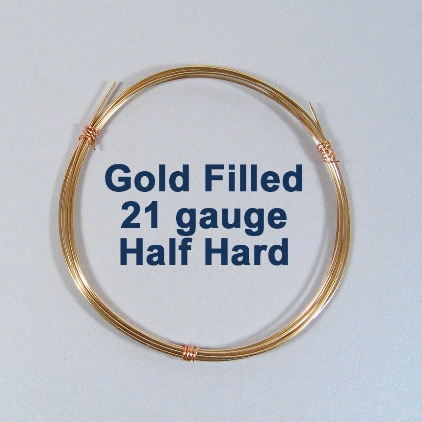Gold Filled Wire 21ga HH Half Hard Choose Your Length | Etsy