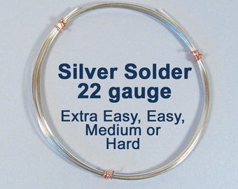 Silver Solder - Extra Easy, Easy, Medium or Hard - Choose Your Length
