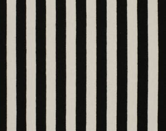 Black and White Stripe Jersey Fabric