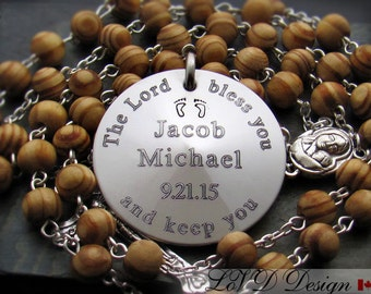 Godparents Gift, Gift For Godparents, Personalized Godparents Gift, Baptism Gift For Godparents, Godparents Rosary, Godfather Gift