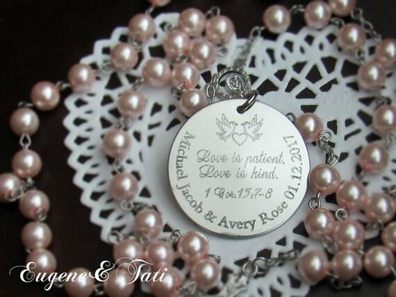 Wedding Rosary Bride Rosary Catholic Wedding Gift Pearl Etsy