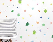 Wall Decal - Desert Confetti Colorful Compilation - Wall Sticker - Room Decor - Wall Decor - Cactus Wall Decor