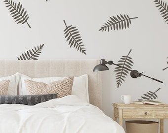 Wall Decal - Wide Leaves - Wall Sticker - Room Decor
