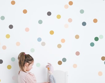 Wall Decal - Colors on Colors  Dots - Wall Sticker - Room Decor
