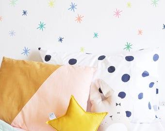 WALL DECAL - Ice Cream Palette Marker Starbursts - Girls Room Decor - Wall Sticker