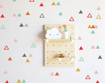 Wall Decal - Playful Triangle Combo  - wall sticker room decor