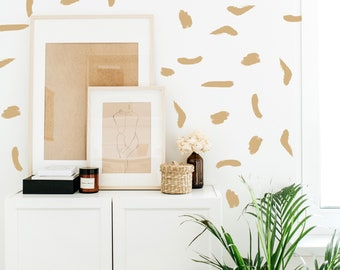 Wall Decal - thick brush strokes - wall stickers