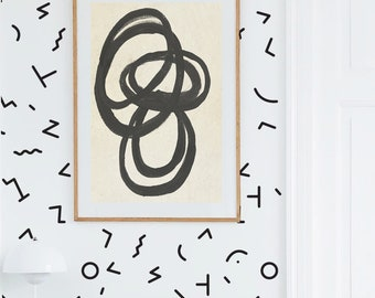 Wall Decal - 90's Abstract - Wall Sticker room decor