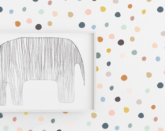 Wall Decal - Colors on Colors Tiny Drawn Dots  - Wall Sticker - Room Decor