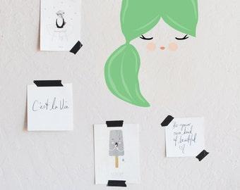 wall decal - Sleeping Beauty Sweetie  - Wall Sticker - Room Decor - Wall Decor