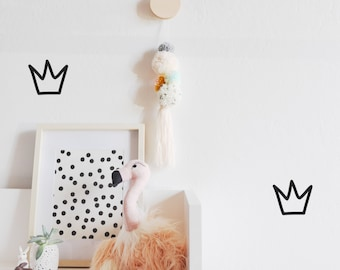 Outlined Crowns - WALL DECAL