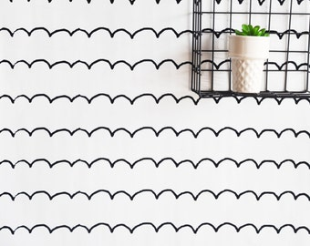"""24"""" x 48"""" Sketchbook Scallop Removable wall paper tile - Wall Paper"""