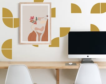 Wall Decal -Quarter Circles - wall stickers