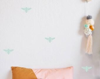 Wall Decal - Honey Bee - Wall Sticker - Room Decor