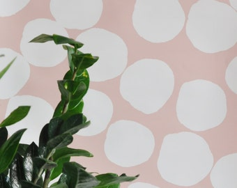 """Wallpaper - 24"""" x 48"""" Bubble Dots Removable wall paper tile - Wall Paper"""