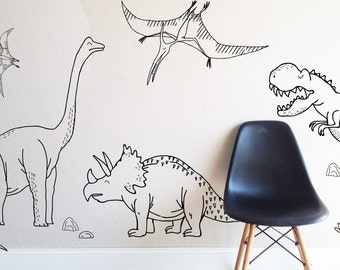 Wall Decal - Large  Dino - Die Cut Decal - Wall Sticker - Room Decor