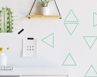 Open Triangles - WALL DECAL