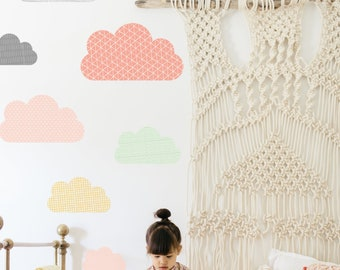 Wall Decal - Geo Clouds - Wall Sticker - Room Decor