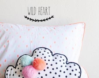 Wall Decal Wild Heart Die Cut  -  wall sticker - room decor