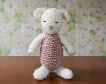 Crochet Lamb Handmade Child Plush Stuffed Animal