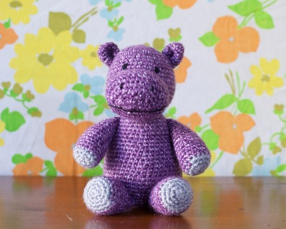 Children S Crochet Toy Hippo Stuffed Animal Plush Kid Etsy