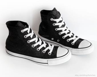 32ead152383d27 Black glitter Converse All Stars
