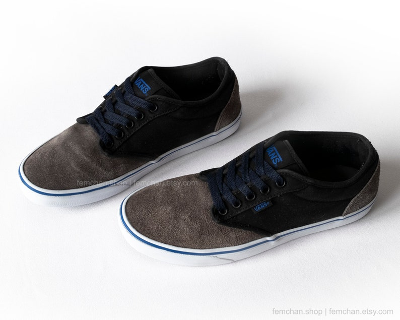 b2f09cf071 Vans Atwood skate shoes vintage sneakers suede and canvas
