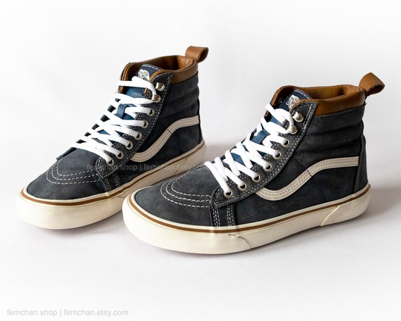 3e99fbc7848 Vans Sk8-Hi MTE leather high tops suede skate shoes vintage