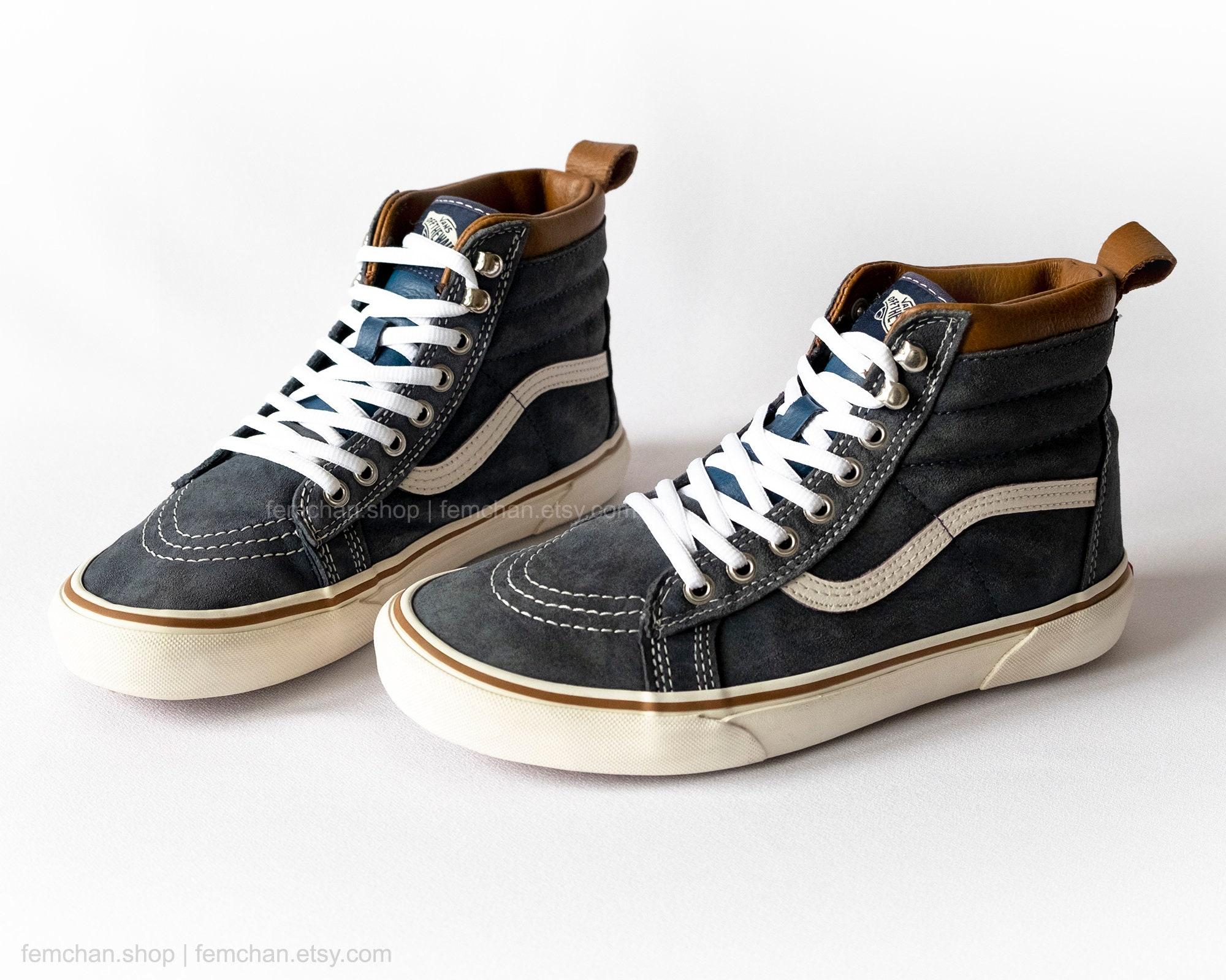 f011e2fb51d Vans Sk8-Hi MTE leather high tops suede skate shoes vintage