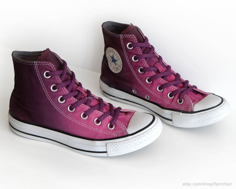 e6badc40585e2e Ombré dip dye Converse All Stars mulberry pink wine red