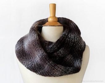 Tie dye infinity scarf - Knitted wrap scarf - Oversized snood - Ombré circle scarf - Soft knit ombré muffler - Vegan-friendly cozy scarf