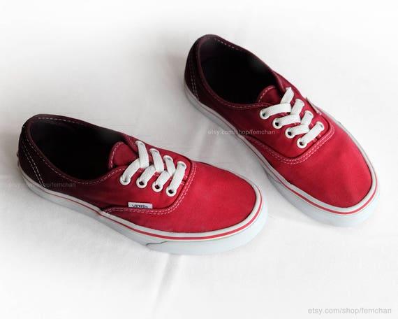 Scarpe Vans Tintura Rosso Etsy Authentic Tuffo Ombré Skate YwxU5qTx