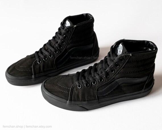 Vans Sk8-Hi sneakers vintage skate shoes mono black high  ca4321708