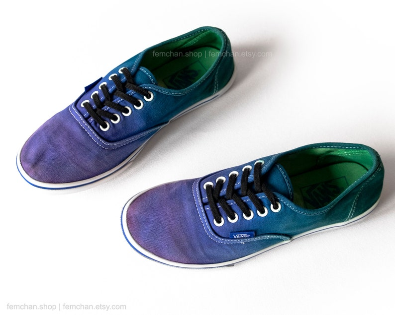 1e134a2367 Vans Authentic Lo Pro violet purple blue and green tie dye