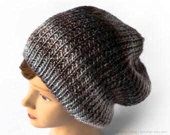 Tie dye beanie hat - Ombré knit hat - Seamless slouchy beanie - Soft toque - Vegan-friendly cap - Skater beanie - More colour options!