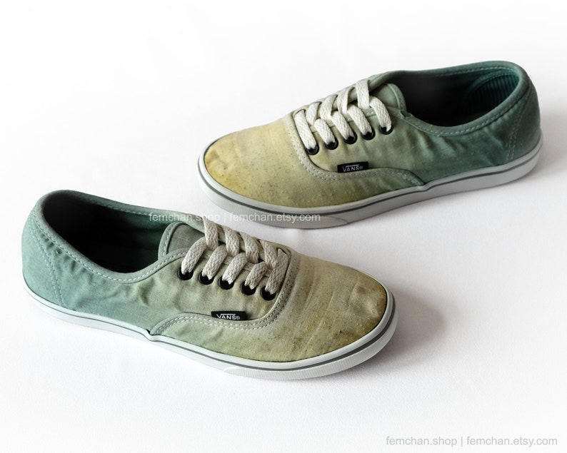 eda86f0d13 Vans shoes Vans Authentic Lo Pro ombré dip dye shoes green