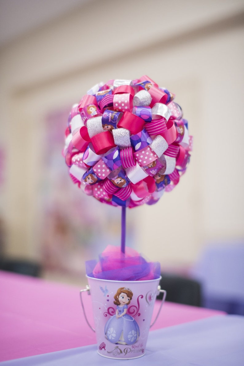 Groovy Sofia The First Ribbon Topiary Sofia The First Centerpiece Download Free Architecture Designs Scobabritishbridgeorg